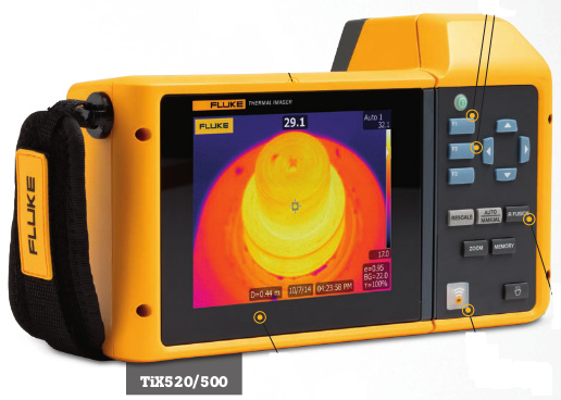 Thermal imager Tix 500 by Fluke